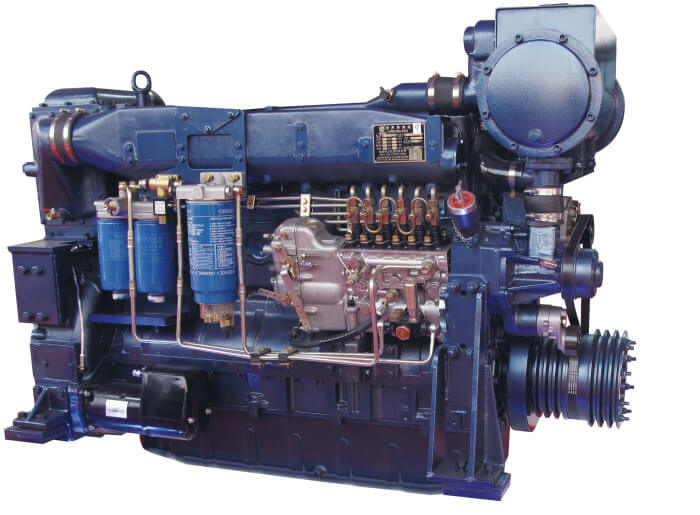 Weichai Marine Diesel Engine WD10C190-15 For Propulsion